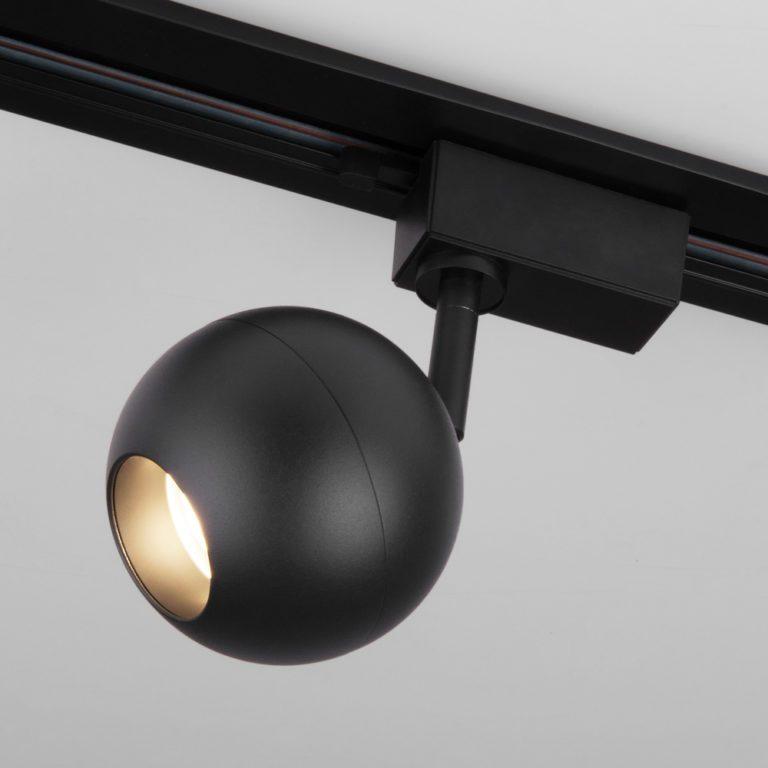 Трековый светодиодный светильник для однофазного шинопровода Ball Черный 12W 4200K LTB77
