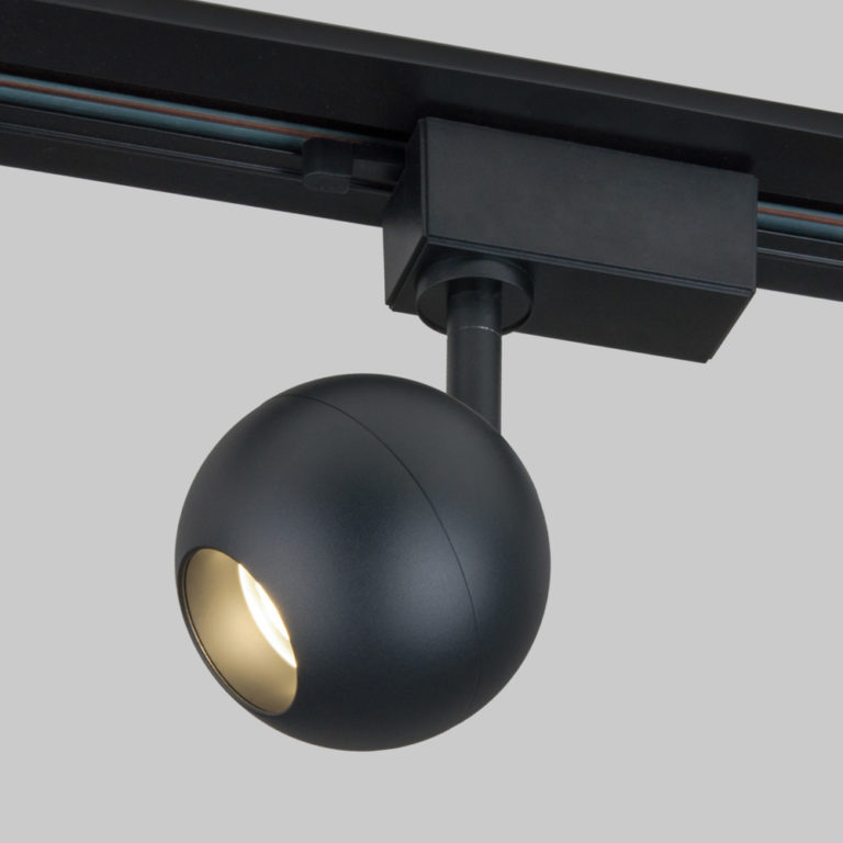 Трековый светодиодный светильник для однофазного шинопровода Ball Черный 8W 4200K LTB76