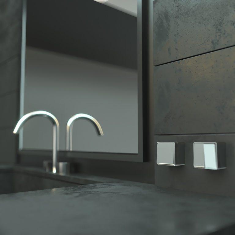 Выключатель одноклавишный Gallant (серебряный) W5010006