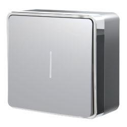 Выключатель одноклавишный с подсветкой Gallant (серебряный) W5010106