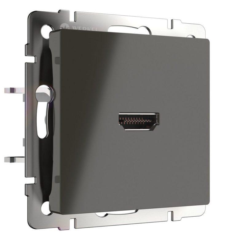 Розетка HDMI (серо-коричневый) WL07-60-11