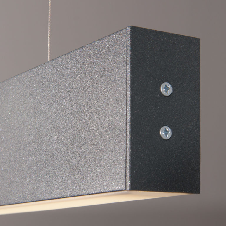 Линейный светодиодный подвесной двусторонний светильник 103см 40Вт 3000К черная шагрень 101-200-40-103