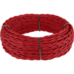 Ретро кабель витой  3х1,5 (красный) 20 м (под заказ) Ретро кабель витой  3х1,5  (красный)