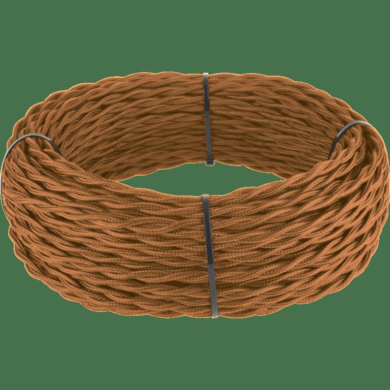 Ретро кабель витой 3х1,5 (медный) 20 м (под заказ) Ретро кабель витой  3х1,5  (медный)
