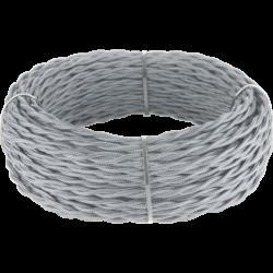 Ретро кабель витой 3х1,5 (серый) 20 м (под заказ) Ретро кабель витой  3х1,5  (серый)