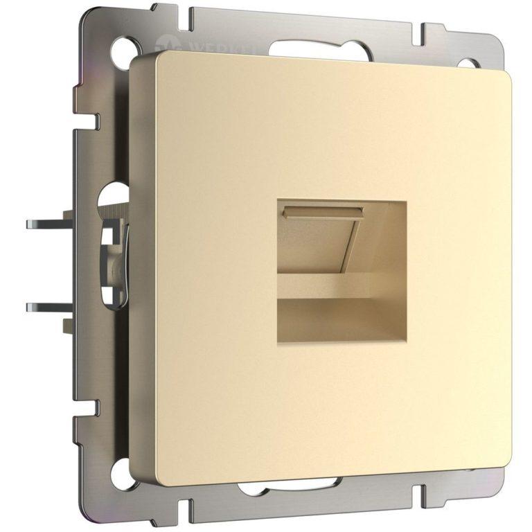 Розетка Ethernet RJ-45 (шампань) W1181011