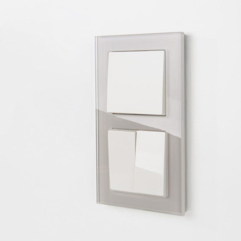 Рамка на 2 поста (дымчатый,стекло) W0021117