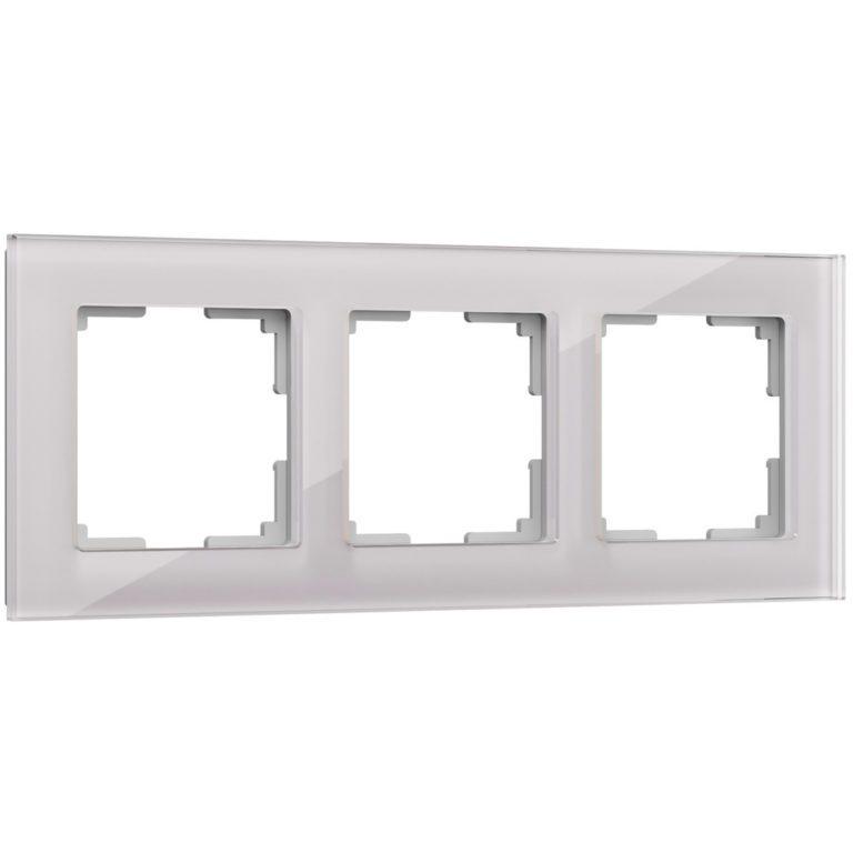 Рамка на 3 поста (дымчатый,стекло) W0031117