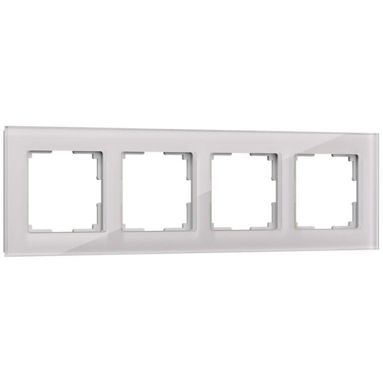 Рамка на 4 поста (дымчатый,стекло) W0041117