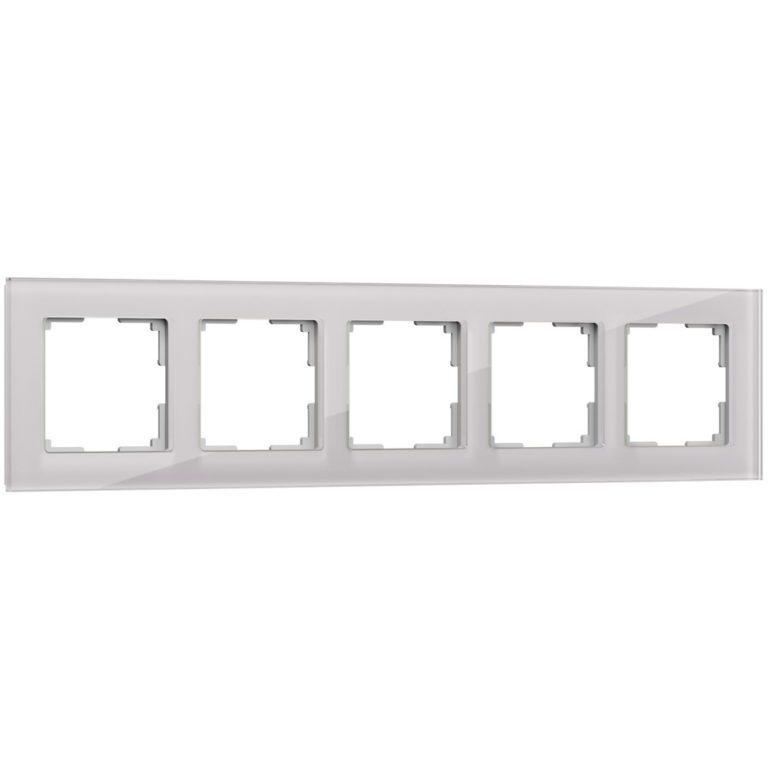 Рамка на 5 постов (дымчатый, стекло) W0051117