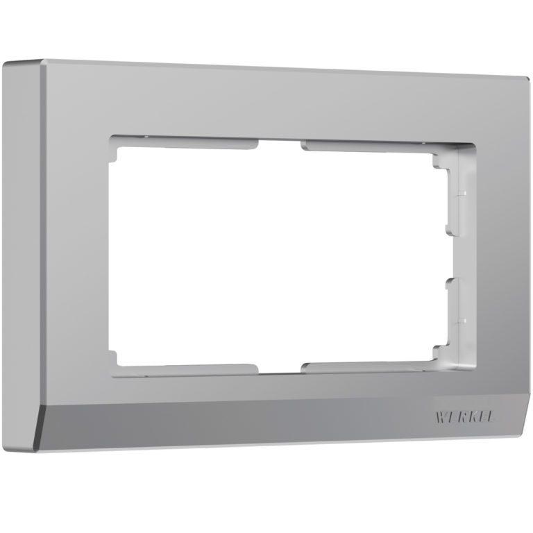 Рамка для двойной розетки (серебряный) W0081806