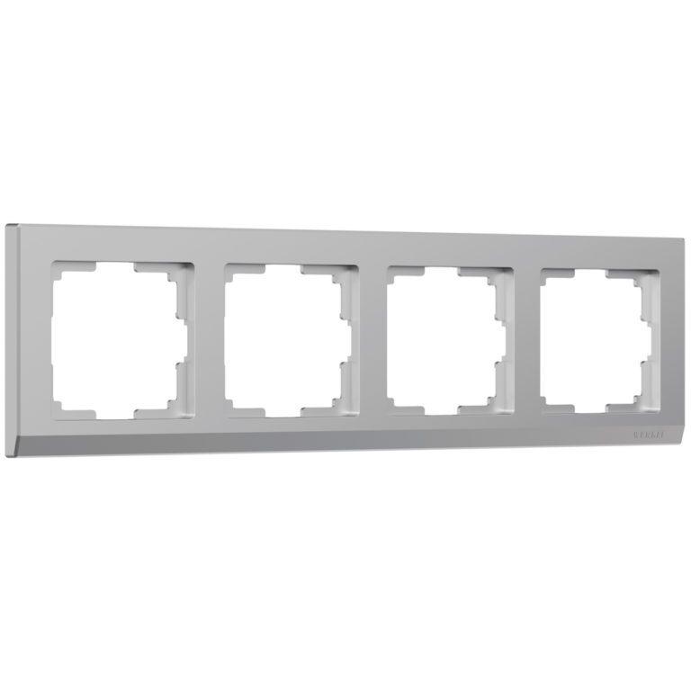 Рамка на 4 поста (серебряный) W0041806