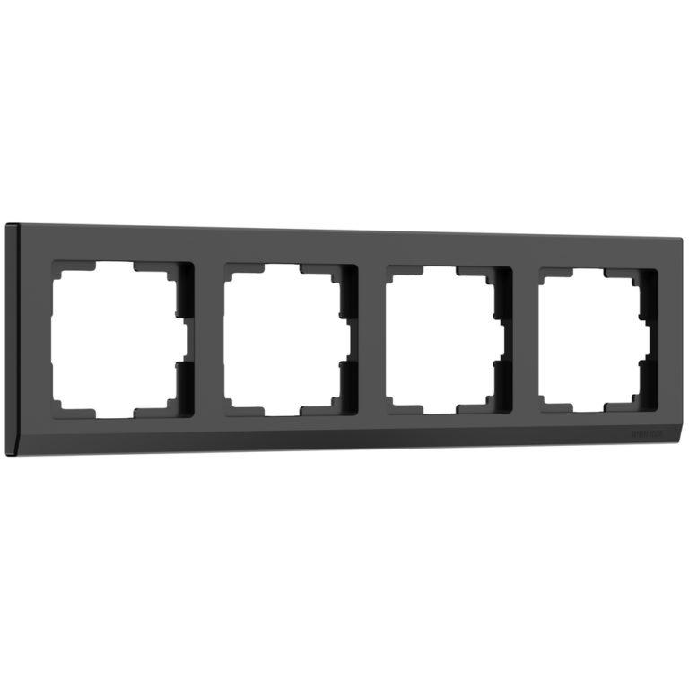 Рамка на 4 поста (черный) W0041808