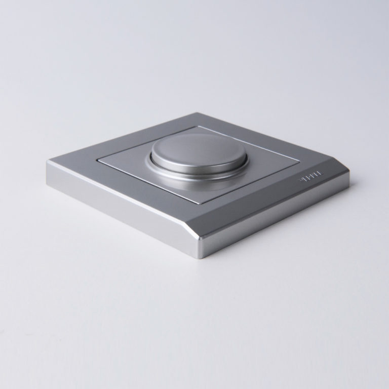 Рамка на 1 пост (серебряный) W0011806