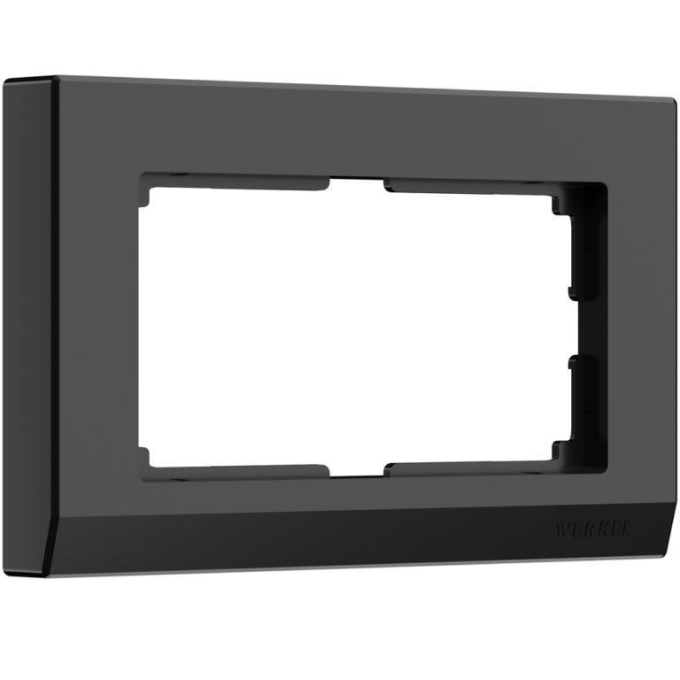 Рамка для двойной розетки (черный) W0081808
