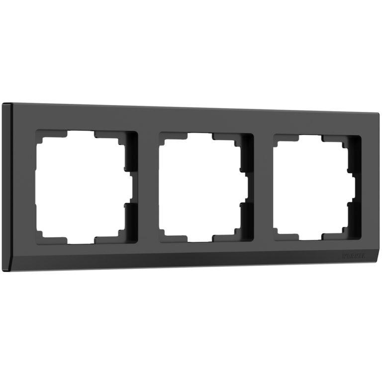 Рамка на 3  поста (черный) W0031808