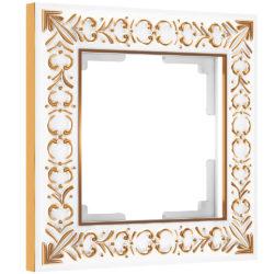 Рамка на 1 пост (белое золото) W0011523
