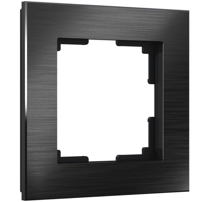 Рамка на 1 пост (черный алюминий) W0011708
