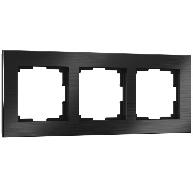 Рамка на 3 поста (черный алюминий) W0031708