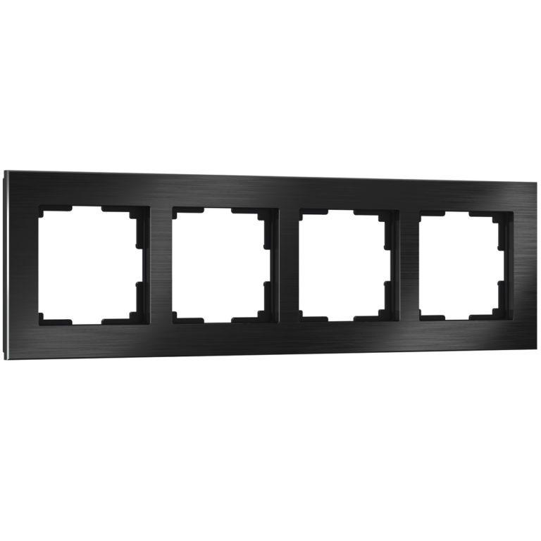 Рамка на 4 поста (черный алюминий) W0041708