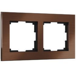 Рамка на 2 поста (коричневый алюминий) W0021714