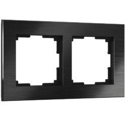 Рамка на 2 поста (черный алюминий) W0021708