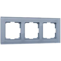 Рамка на 3 поста (серый,стекло) W0031115