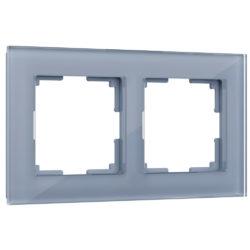 Рамка на 2 поста (серый,стекло) W0021115