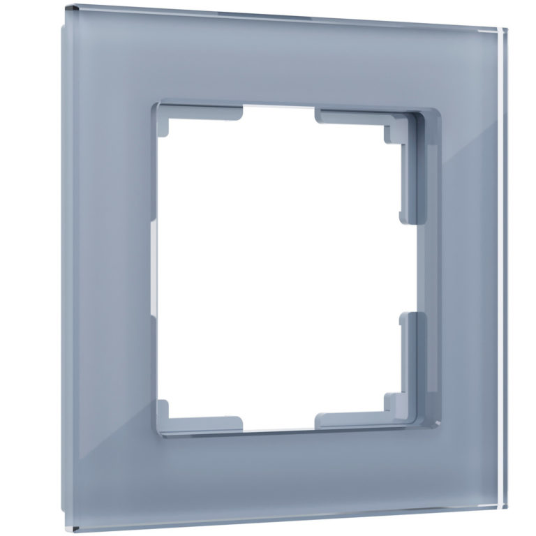 Рамка на 1 пост (серый,стекло) W0011115