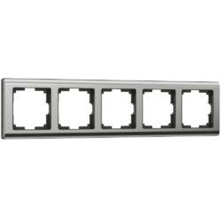 Рамка на 5 постов (глянцевый никель) W0051602
