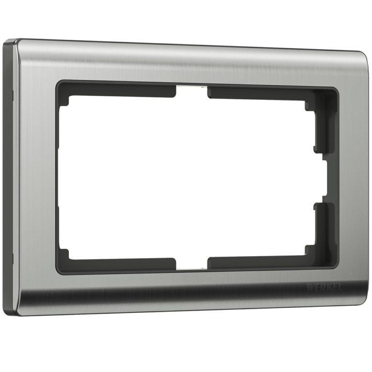 Рамка для двойной розетки (глянцевый никель) W0081602