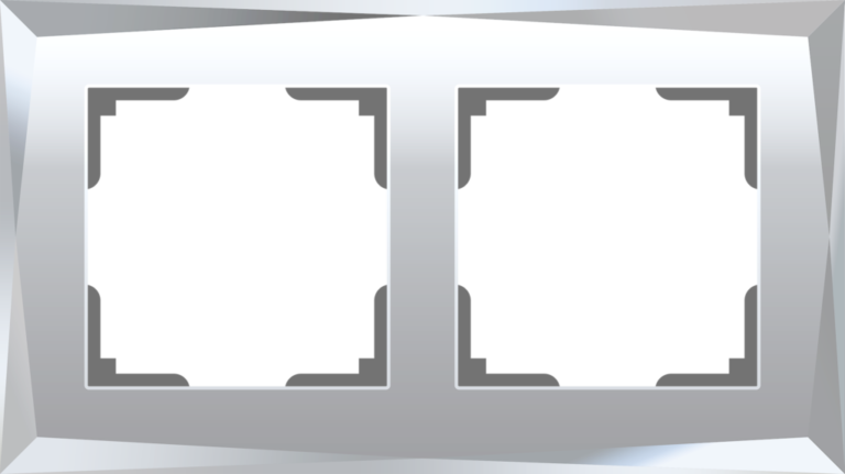 Рамка на 2 поста (зеркальный) W0021220
