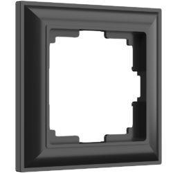 Рамка на 1 пост (черный матовый) W0012208