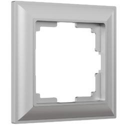 Рамка на 1 пост (серебряный) W0012206