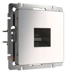 Розетка Ethernet RJ-45 (глянцевый никель) W1181002