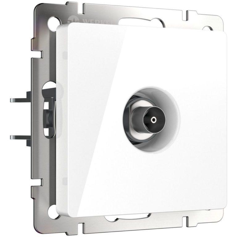 ТВ-розетка оконечная (белая) W1183001