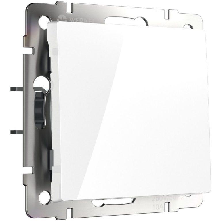 Перекрестный переключатель одноклавишный (белый) W1113001