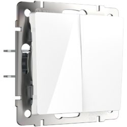 Выключатель двухклавишный проходной (белый) W1122001