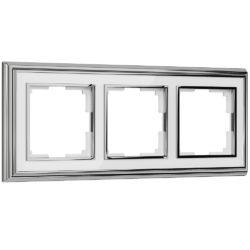 Рамка на 3 поста (хром/белый) W0031331