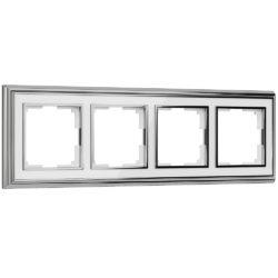 Рамка на 4 поста (хром/белый) W0041331