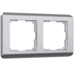 Рамка на 2 поста (серебряный) W0022106