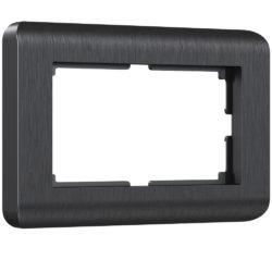 Рамка для двойной розетки (графит) W0082104