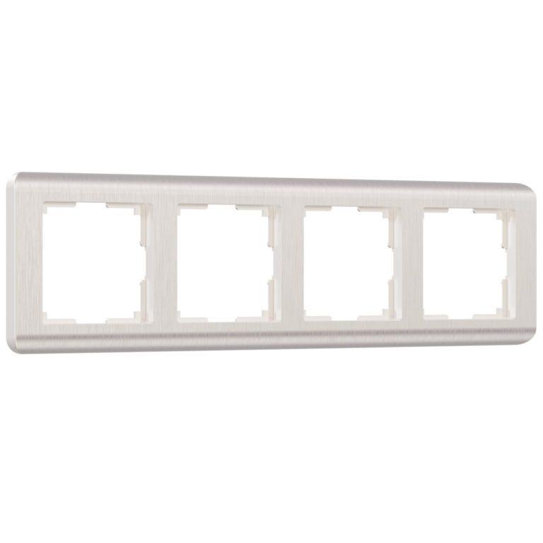 Рамка на 4 поста (перламутровый) W0042113