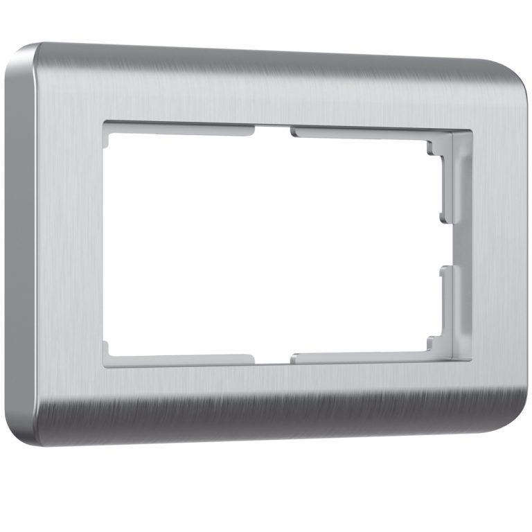 Рамка для двойной розетки (серебряный) W0082106