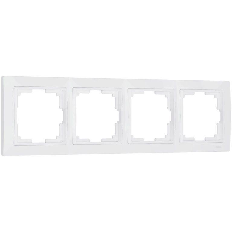 Рамка на 4 поста (белый, basic) W0042001