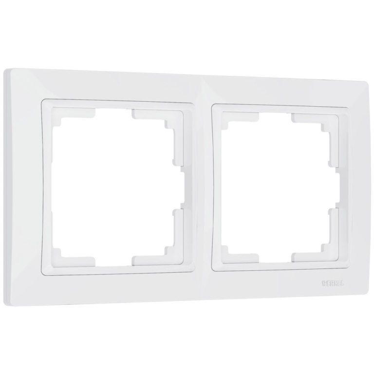 Рамка на 2 поста (белый, basic) W0022001