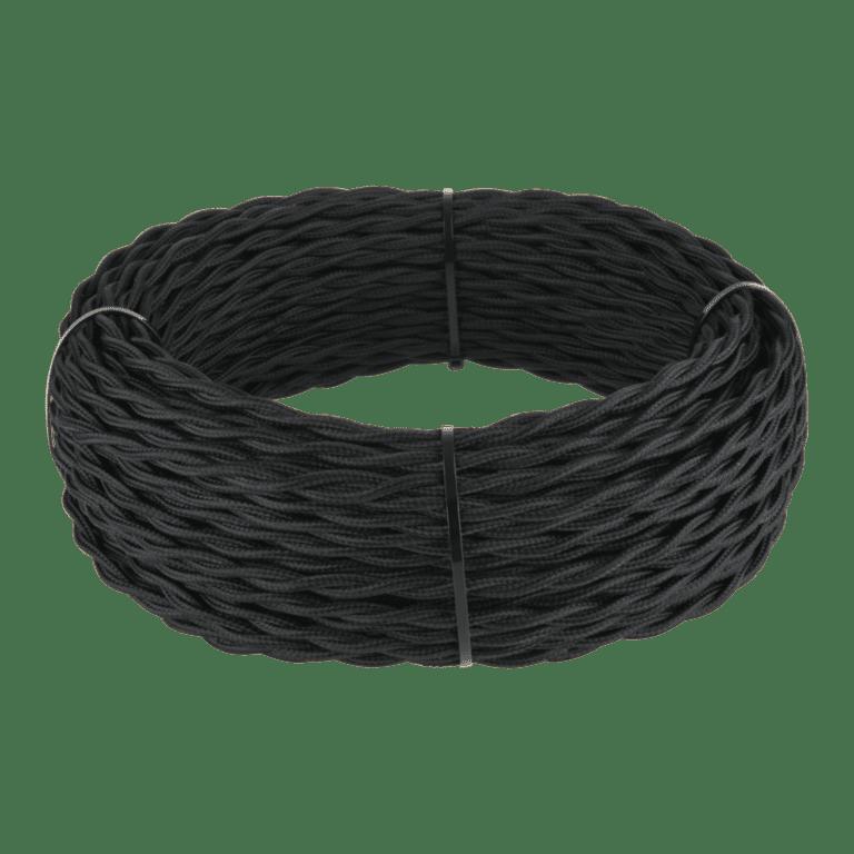 Ретро кабель витой 2х2,5 (черный) 20 м (под заказ) W6452308