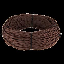 Ретро кабель витой 2х2,5 (коричневый) 20 м (под заказ) W6452314