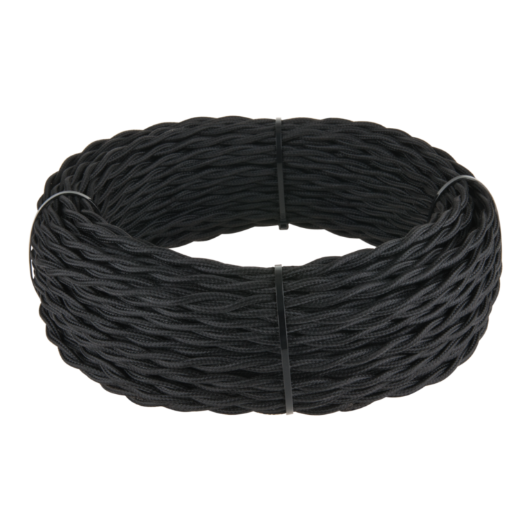 Ретро кабель витой 2х1,5 (черный) 20 м (под заказ) W6452208