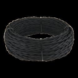 Ретро кабель витой 3х1,5 (черный) 20 м (под заказ) W6453208